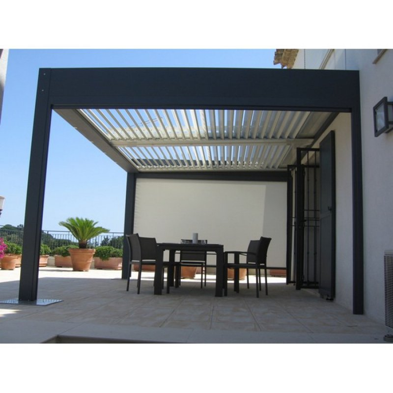 construire sa pergola bioclimatique id es d coration id es d coration. Black Bedroom Furniture Sets. Home Design Ideas